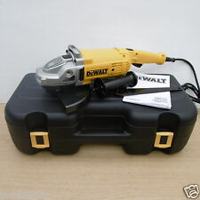 "DEWALT DWE492K 9"" 230MM 2200WATT ANGLE GRINDER + CASE & DT3731 DIAMOND DISC 110V"
