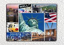 SOUVENIR FROM NEW YORK, USA FRIDGE MAGNET -lsv4Z