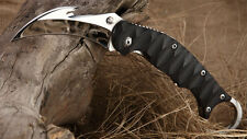 New TwoSun Mirror 420J2 Blade Karambit Folding Pocket Claw Knife TS-MB01