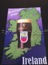Guinness Rare Irish Map,Pint & 1000 YR Dublin City Anniversary Logo -Irish Print