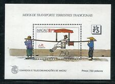 Macao 559, MNH.Traditional Transportation 1987 SCV-$57.50.  x16091