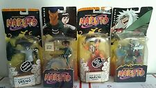 NEW 4 SHONEN JUMP Naruto action figure lot Mattel 2002 ROCK LEE SHINO JIRAIYA