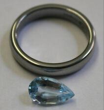 NATURAL BLUE TOPAZ LOOSE GEMSTONE 6.5X11MM FACETED TEAR DROP 3.4CT GEM TZ37B