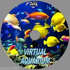 VIRTUAL FISH TANK AQUARIUM DVD 10 COLOURFUL SCENES +SOUNDS FOR LED PLASMA TV NEW