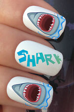 NAIL ART SET #680 x20 SHARK BITE MOUTH JAWS WATER TRANSFER DECALS STICKERS