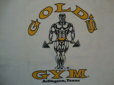 Gold's Gym Arlington, Texas Souvenir Body Builder Fitness White T Shirt Size S