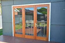 SOLID TIMBER BIFOLD DOORS, SOLID RED CEDAR, 3 PANEL, PRE-HUNG, STAINED, OILED,