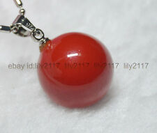 """Pretty! Red 16MM sea shell pearl pendant necklace 17"""" AAA Grade"""