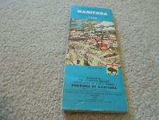 Vintage 1958 Manitoba Canada Official Highway Map