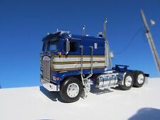 DCP 1/64 SCALE KENWORTH K100 FLAT TOP CAB OVER BLUE W SILVE STRIP TRIMED IN GOLD