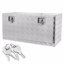 "36"" Aluminum Truck Underbody Tool Box Trailer RV Tool Storage Under Bed w/Lock"