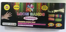 DIY LOOM BANDS BRACELET MAKING KIT INCLUDES 600 RAINBOW RUBBER BANDS LOOM CLIPS