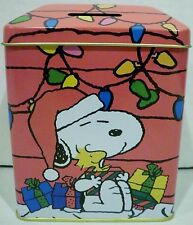 Giftco Inc Peanuts Snoopy & Woodstock Christmas Metal Tin Bank