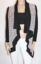 Mambo Designer Black Trim Zein Long Sleeve Cardigan Size 10-S BNWT #JA144