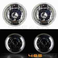 "Hot 5-3/4"" Led Round Motorcycle Headlight with Halo Angel Eye Turn Signal Light"