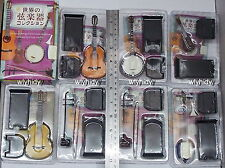 Miniatures World Stringed Musical Instrument Collection 7pcs - F-toys  ,h#1