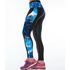 Womens Yoga Gym Pants Running Sports Cropped Leggings Fitness Jogging Trousers