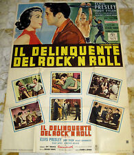 Elvis JAILHOUSE ROCK Italy only 2-sh MOVIE POSTER 140x100 1st edit. 1958 !