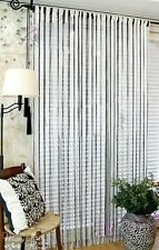 White and Black Door Window Curtain Panel Room Divider String Curtain 100*300CM