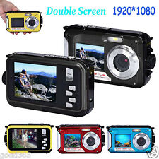 "2.7"" Double Screen Waterproof Camera Full HD 24MP 16x Digital Zoom Dive Camera"