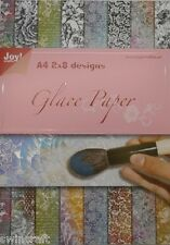 NEW Joy Crafts Glace Paper - Flowers A4 2x8 Designs - 6013/0529