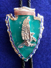 ARROWHEAD BOLO TIE PEWTER EAGLE TURQUOISE EPOXY OUTSTANDING DESIGN NEW FREE SHIP