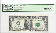 $1 1999 MISMATCHED PREFIX AT UR INTEGRAL PCGS GEM65PPQ