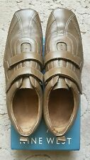 Light Brown NINE WEST Leather Velcro Shoes/Flats UK Size 8/8.5 (US Size 10 W)