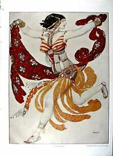 Orientalischer Tanz, Bakst, Druck 1914, DIN A 3, (erotisch)