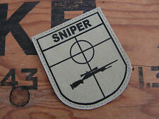 SNAKE PATCH - BLASON SNIPER SABLE - Cible Tir Lunette Airsoft SCOUT US atacs