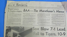 THE BOSTON MARATHON-BAA- MARATHONER'S MECCA AT DIAMOND ANNIVERSARY HEADLINES