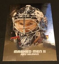 RIKU HELENIUS 2009-10 In The Game Between The Pipes MASKED MEN II Silver #26