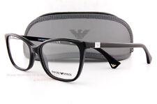 Brand New EMPORIO ARMANI Eyeglass Frames 3053 5017  Black Women Size 52