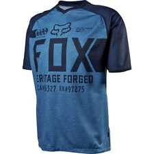 Fox Indicator Men's Short-sleeve MTB Jersey Heather Blue Large