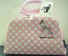 BETTIE PAGE PINK ZIPPER PURSE HANDBAG MAKEUP PIN UP ART WORK BY OLIVIA BETTY