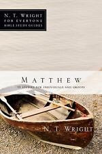 Matthew (N.T. Wright for Everyone Bible Study Guides), Wright, N. T., Good Book