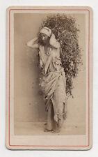 CDV - PHOTO Homme oriental costume 1880s AFRIQUE DU NORD Type travail des champs