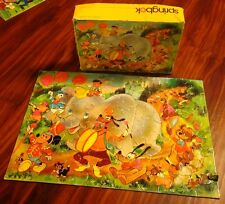 DISNEY PARADE jigsaw puzzle Springok beat-up Bongo the Bear 1973 pigs Pinocchio