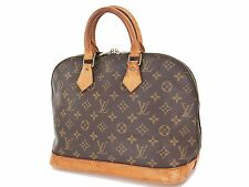 Authentic LOUIS VUITTON Alma Monogram Hand Bag Purse #24680