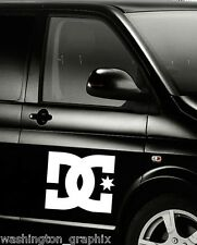 2X LARGE 300mm DC car/laptop window SURF VW T4 T5 VAN VINYL stickers/decals