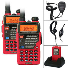2 sets Baofeng UV-5RE Dual Band UHF/VHF Two Way Ham FM Radios Walkie Talkie+MIC