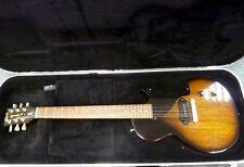 Menta Gibson Les Paul Jnr 100 especial, TABACO MOTIVO SOLEADO, caja de oro de Gibson de Luxe