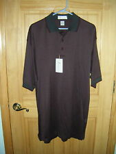Mens ILMIGLIORE 2 Ply Cotton Bordeaux Short Sleeve Polo Golf Shirt Sz XL NwT