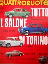 Quattroruote 107 1964 Salone Torino: Autobianchi Primula, Fiat 1500, Ferrari Q76