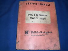 KOEHRING BUFFALO SPRINGFIELD LA88 SOIL STABILIZER PARTS BOOK MANUAL