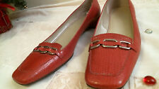 TALBOTS RED loafers Leather size 8 N  casual wear   slip on