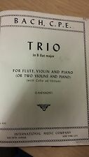 CPE Bach: Trio Sonata For Flute, Violin And Piano: Music Score (P1)