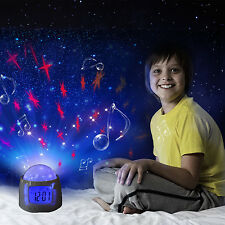 Music Star Sky Night Light Projection Digital Alarm Clock Temperature Calendar