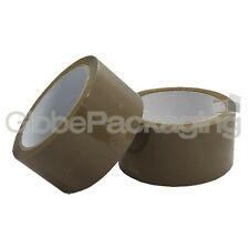 "6 ROLLS OF BROWN PACKING PARCEL TAPE 48mm x 66M (2"")"