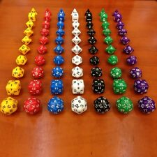 DZ667 Multi-Sid D4 D6 D8 D10 D12 D20 D30 DRAGONS D&D RPG Poly Dice Game 10 Set ^